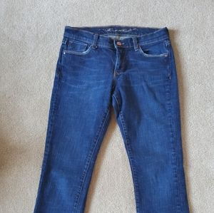 Old navy blue woman jeans boot cut size 2 short